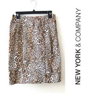 NY&Co: Animal Print Skirt